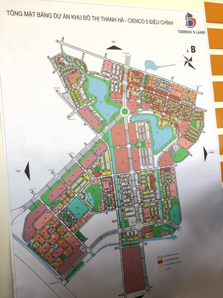 Sơ đồ tổng thể mặt bằng khu đô thị Thanh Hà - Mường Thanh Cienco 5