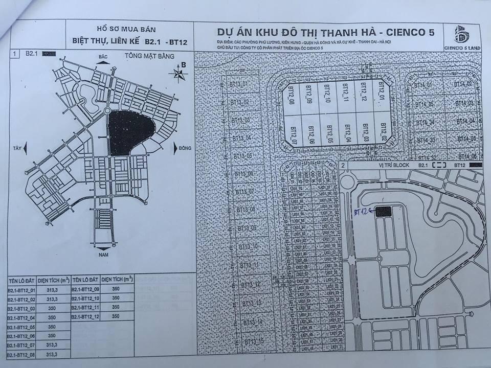 sơ đồ mặt bằng khu b2.1 lk 03 khu đô thị thanh hà - mường thanh cienco 5