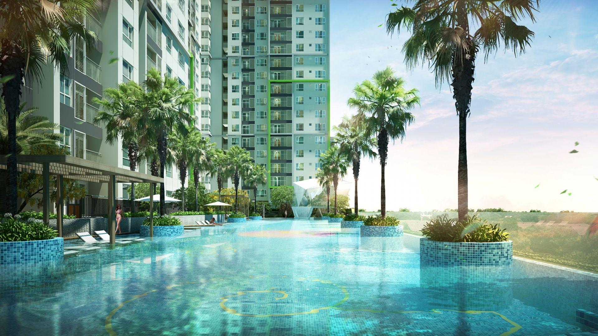 Bể Bơi Bốn Mùa quanh khu chung cư B1.3 HH03 Thanh Hà